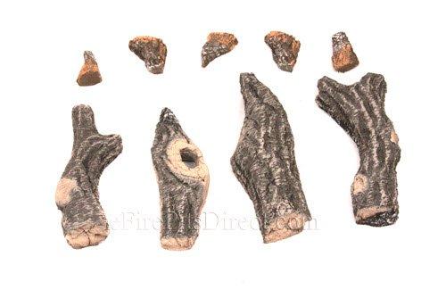 [해외]HPC 우드랜드 스타일 야외 세라믹 가스 로그 설정 (18 버너와 함께 사용) 4 조각/HPC Woodland Style Outdoor Ceramic Gas Log Set, 4 Piece (For use with 18