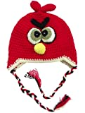 LadyMYP Handmade Knitted cap Baby cap Childrens Hat Hats 100 Wool 13 Hat Birdy Red