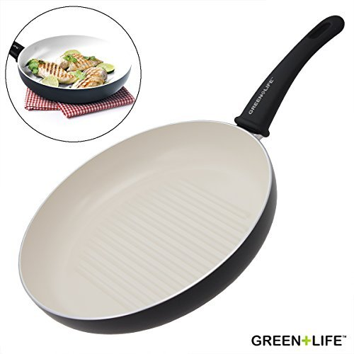 GreenLife Healthy Ceramic Non-Stick Grill Skillet Pan 11