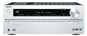 Onkyo TX-NR616 7.2 Netzwerk AV-Receiver für Apple iPhone/iPod (HD-Audio, 3D Ready, RDS, USB 2.0, 160 W/Kanal) silber