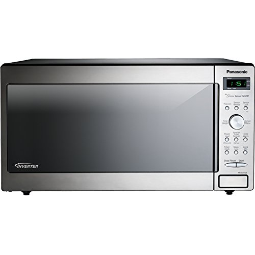 Panasonic NN-SD772-S Stainless Steel Genius Counter Top/Built-In Microwave Oven with Inverter Technology, 1250-watt