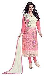 Subhash Sarees Daily Wear Multicolor Color Fox Georgette Salwar Suit Dress Material
