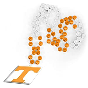NCAA Tennessee Volunteers Beads with Logo Medallion
