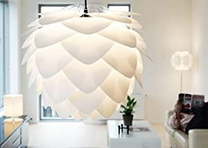 Silvia Pendant Ceiling Shade Ceiling Light White Large - - with electrical cord set