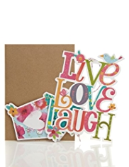 New Home Hanging Mobile Greetings Card