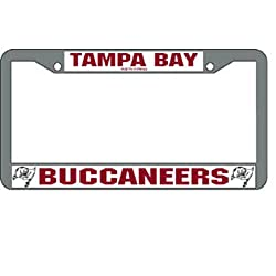 Tampa Bay Buccaneers NFL Chrome License Plate Frame