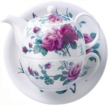 Roy Kirkham English Rose Tea For One Stacking Teapot Set