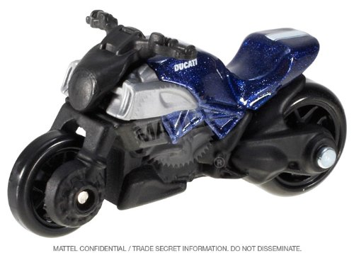 HotWheels 2013 HW City Ducati Diavel 9/250 Metallic Blue Bike - 1