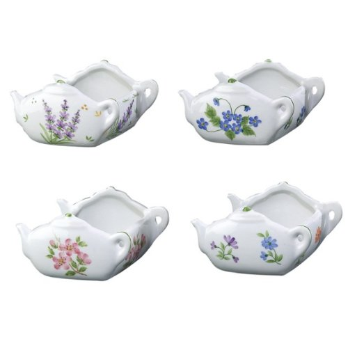 "Great Deal! Andrea by Sadek 3.5""L Tea Bag Caddies/Holders (4 Asst)"