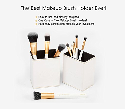 best selling professional 8 piece makeup brush set with designer case plus bo. Black Bedroom Furniture Sets. Home Design Ideas