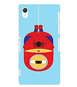 EPICCASE Hanging Minion Mobile Back Case Cover For Sony Xperia Z2 (Designer Case)