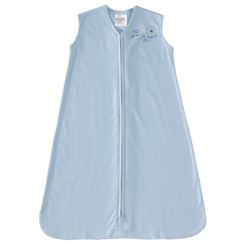 HALO SleepSack 100% Cotton Wearable Blanket, Baby Blue, X-Large