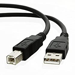 NiceTQ USB2.0 10FT Type A Male to Type B Male Cable Cord For Yamaha YPG-235 76-key Portable Grand Graded-Action USB Keyboard