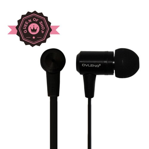 Queen I820 Black High Performance In Ear Headphones With Built-In Mic Universal 3.5Mm Jack Hand'S Free Galaxy Note 3
