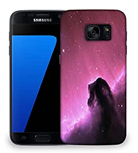 Snoogg Purple Galaxy Sky Designer Protective Phone Back Case Cover For Samsung Galaxy S7