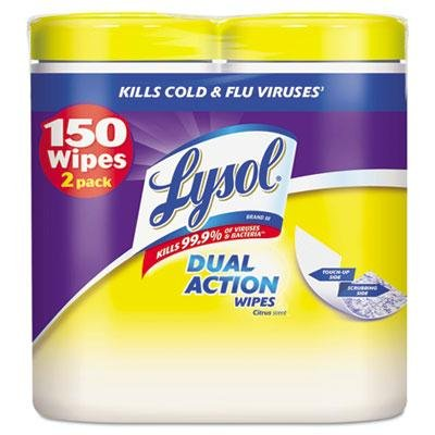 """Brand New Lysol Brand - 2 Pack - Disinfecting Wipes 7 X 8 Citrus 75/Canister 2/Pack """"Product Category: Breakroom And Janitorial/Cleaning Tools & Supplies"""""""