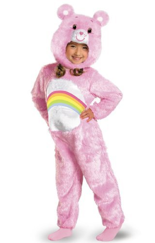 [Cheer Bear Deluxe Plush Costume - Toddler Small by Disguise] (Deluxe Cheer Bear Costumes)