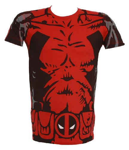 Marvel Deadpool Costume Mens T-shirt