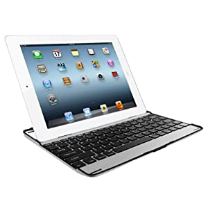 MiniSuit Aluminum Finish Keyboard Case + Velvet Velour Pouch For Apple iPad 4, 3, 2