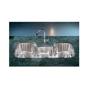 Franke rgx170 regetta triple bowl undermount kitchen sink - Undermount 3 compartment kitchen sinks ...