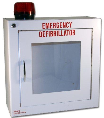 [해외]먼저 음성 TS180SM-14R 중간 표면은 경보 및 스트로브와 AED 내각을 탑재, 14 폭 14 높이 x 6.25 깊이 X/First Voice TS180SM-14R Medium Surface Mounted AED