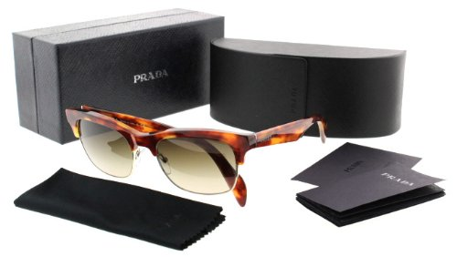 prada Prada PR11PS Sunglasses-4BW/6S1 Light Havana (Brown Gradient Lens)-54mm