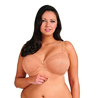Goddess Women's Rose Bandless Underwire Bra, Nude, 36DDD