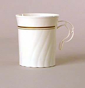 GOLD/WHITE 80Z. COFFEE MUG