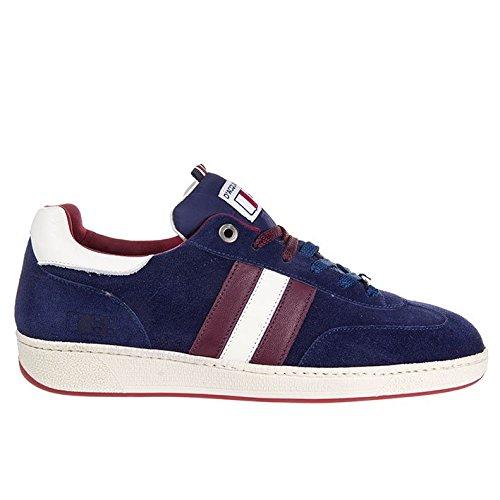 D'Acquasparta Sneaker Uomo Fatta a Mano in Italia Ghiberti Suede Blue_43