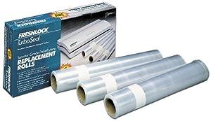 Deni 1640 Freshlock 11-Inch-by-33-Foot Vacuum Sealer Replacement Rolls, Set of 3