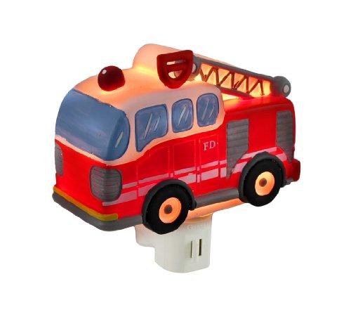 Children`S Red Fire Truck Night Light Nite Lite Nightlight