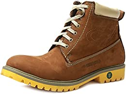 TANNY SHOES Mens Leather High Top Boots B01NA9TP63