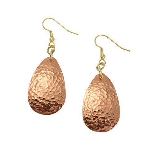 Hammered Copper Medium Tear Drop Earrings By John S Brana Handmade Jewelry Durable Copper Earrings