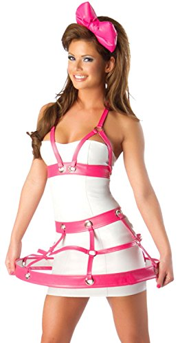 Anmengte Halloween Masquerade Party Costume Lingerie Sexy Cosplay Bodysuit Sets (One Size, LC8538) (Homemade Halloween Makeup Zombie)