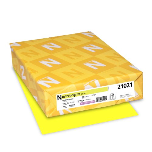 neenah-astrobrights-premium-color-card-stock-65-lb-85-x-11-inches-250-sheets-lift-off-lemon