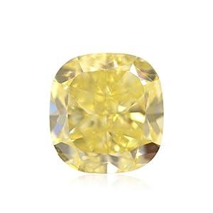 4.01 Carat Fancy Yellow Loose Diamond Natural Color Cushion Cut GIA Certificate