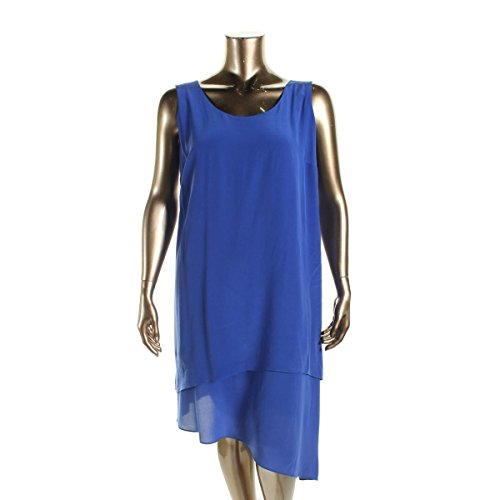 Eileen Fisher Womens Plus Silk Asymmetric Casual Dress
