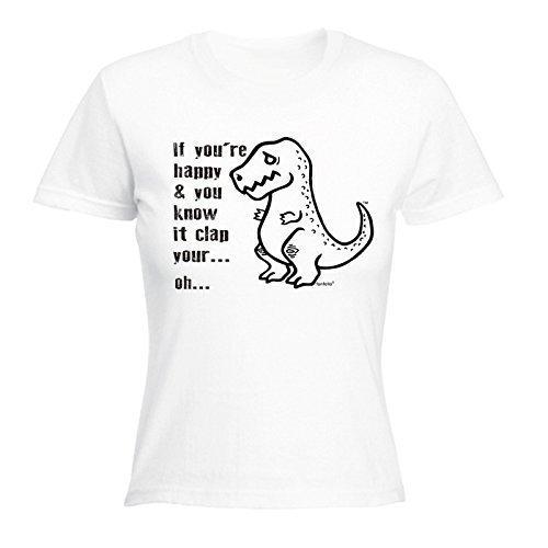 123t da donna-Se sei felice e lo sapete Clap Your Hands-, con maglietta White Large