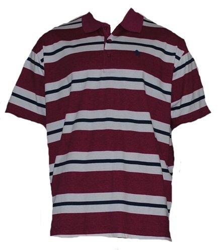 Mens Purple, White & Blue Stripe Polo Shirt. Size XXX-Large 50