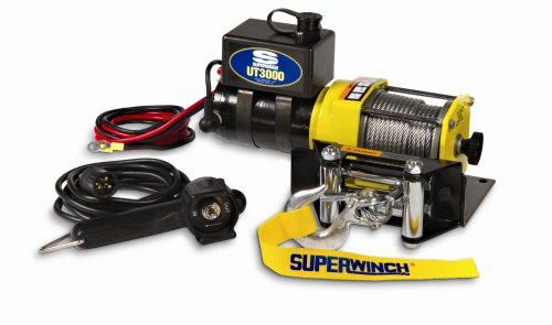 Review Superwinch 1331200 UT3000, 12 VDC winch, 3,000lb/1360 kg with mount plate, Roller Fairlead & ...