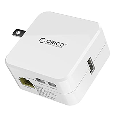 ORICO Wireless Travel Router with USB Charger Port