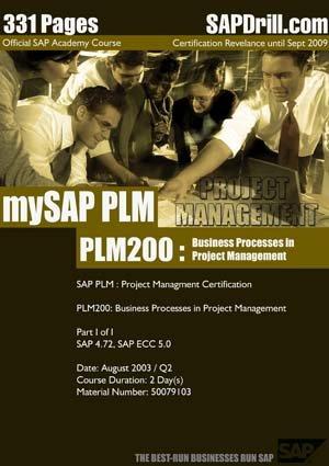 SAP PLM Project Management PM Certification Course