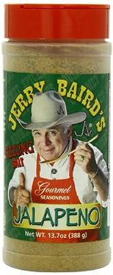 Jerry Baird's Gourmet Seasonings Jalapeno Sizzling Salt, No MSG, 13.7 Ounce by Jerry Baird's Gourmet Seasonings
