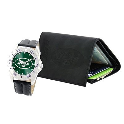 New York Jets NFL Watch And Wallet Gift Set at Amazon.com