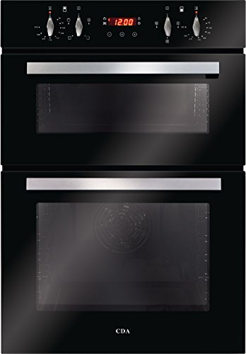 CDA DC940BL 60cm Built in Double Electric Oven in Black