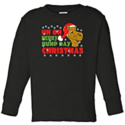 Merry Hump Day Christmas Camel Toddler Long Sleeve T-Shirt