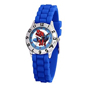Marvel Comics Kid's MA0103-D2785-BlueRubber Marvel Spider-Man Classic Time Teacher Watch