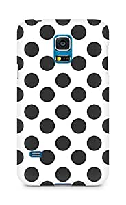 Amez designer printed 3d premium high quality back case cover for Samsung Galaxy S5 Mini (Black n White Pattern1)
