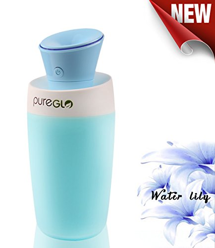 Pureglo 250ml ultrasonic cool mist humidifier mini usb for Small room humidifier