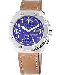 Montres De Luxe Men's TH7002 Thunderbolt Automatic Chronograph Blue Dial Watch